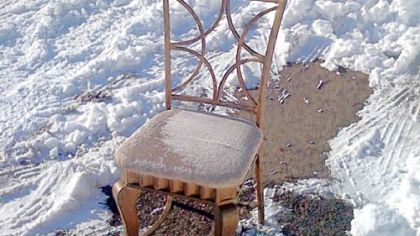 Parking chair in Morningside.