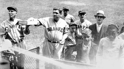 Babe Ruth hit the final three home runs of his career at Forbes Field 75 years ago.