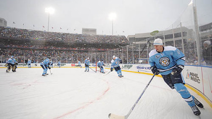The Penguins took part in the 2008 Winter Classic in Orchard Park, N.Y.