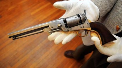 "An 1851 Colt ""Navy"" revolver once owned by abolitionist Owen Brown."