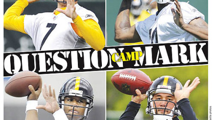Clockwise from, top left, Roethlisberger, Dixon, Batch and Leftwich.
