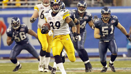 Willie Parker's 75-yard touchdown run in Super Bowl XL was the longest in Super Bowl history.