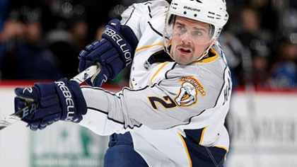 Former Predators defenseman Dan Hamhuis signed with the Canucks yesterday.