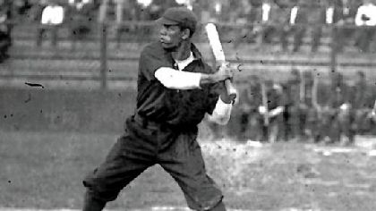 Pete Hill batting.