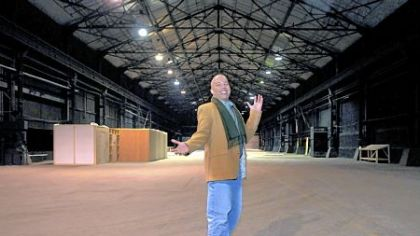 Robert Stewart, film fund director of Mogul Mind, stands in one of the Strip District soundstages used for movie, TV or commercial productions.