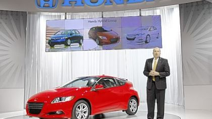 John Mendel, executive vice president of American Honda Motor Co., introduces the 2011 Honda CR-Z.