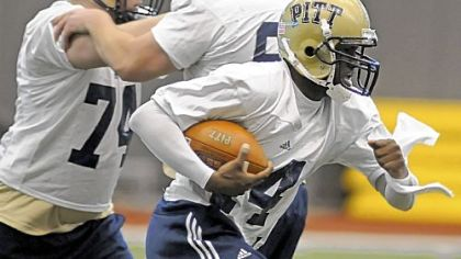 Pitt fans haven't seen the last of junior college transfer Greg Cross, who is working at receiver this spring.