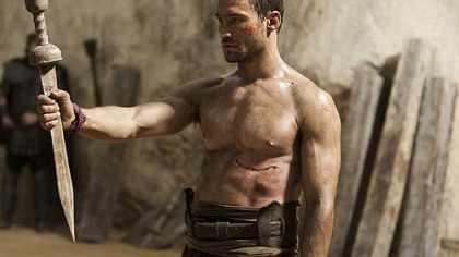 Andy Whitfield portrays the belligerent warrior Spartacus in the new series on Starz.