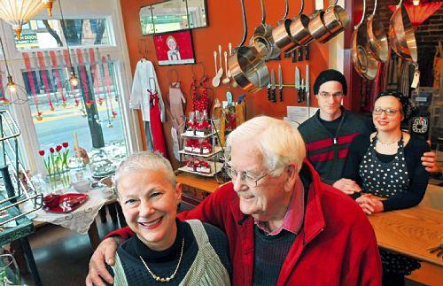 In her Annex Cookery store in Homestead, Judith Tener-Lewis stands in