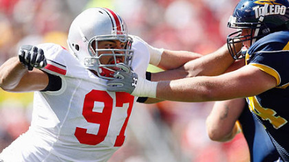 Ohio State defensive lineman Cameron Heyward is projected to be a first-round pick in next year's NFL draft.