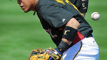 "Pirates second baseman Aki Iwamura on his struggles: ""I'm just not getting the results in numbers. That's it. But I know it's important to have the results."""