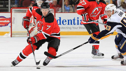Former Devils defenseman Paul Martin signed with the Penguins yesterday.