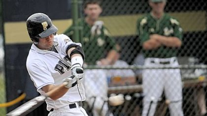 Joe Leonard hit .433 with 71 runs batted in for Pitt this season and was a third-team All-American.