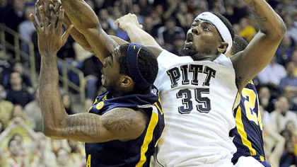 "Pitt forward Nasir Robinson on his team's practices: ""We go hard from the beginning of practice to the end of practice, and it carries into games."""