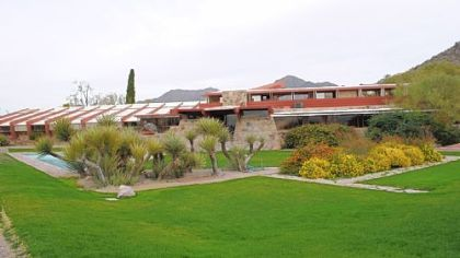 Taliesin West, the winter home and architecture school Frank Lloyd Wright built in 1938, sits at the foothills of the McDowell Mountains near Scottsdale.