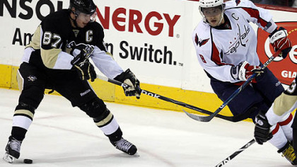 Penguins captain Sidney Crosby and Capitals captain Alex Ovechkin.