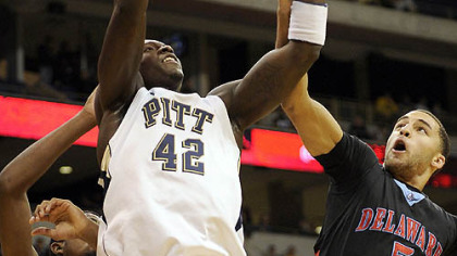 Pitt&#039;s Talib Zanna has averaged 5.7 points per game this season.