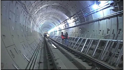 The North Shore Connector tunnel, seen in the PG video at left