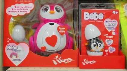 """Penbo"" and ""Bebe"" by Oakland company Bossa Nova Robotics are on the shelves in major retailers."