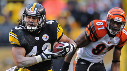Steelers safety Troy Polamalu is dealing with a lower-leg injury.