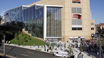 Fans arrive at the Consol Energy Center for the first regular season game between.
