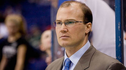 Blues head coach Davis Payne.