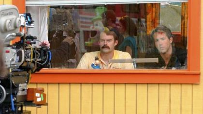 Bill Hader, left, and Ryan Reynolds in a scene of &quot;Adventureland&quot; at Kennywood Park.
