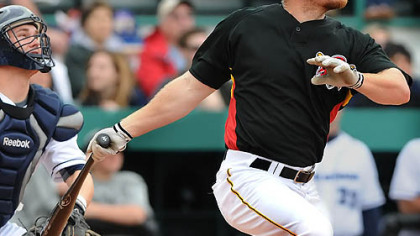 "Pirates outfielder Brandon Moss: ""I've got to hit home runs. I'm never going to be that perfect hitter, but I can hit home runs."""