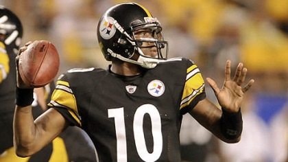 Steelers quarterback Dennis Dixon completed 71.9 percent of his passes in the preseason.