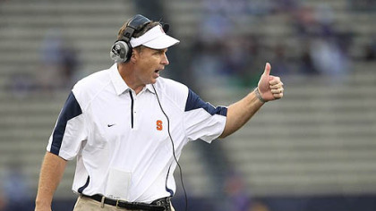 Head coach Doug Marrone has led Syracuse to a 4-1 record this season.