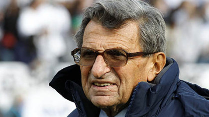 Penn State coach Joe Paterno has 401 career victories.