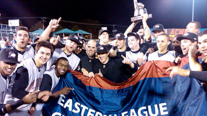 Members of the Altoona Curve, the Pirates&#039; Class AA affiliate, celebrate their Eastern League title Saturday night in Trenton, N.J.