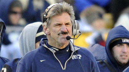 Pitt head coach Dave Wannstedt watches his team during Friday's game at Heinz Field.