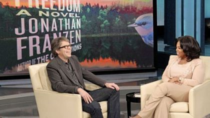"Jonathan Franzen, shown during a Nov. 19 interview on ""The Oprah Winfrey Show,"" leads many critics 2010 best lists with his novel, ""Freedom."" Ms. Winfrey picked it as her 64th book club selection."