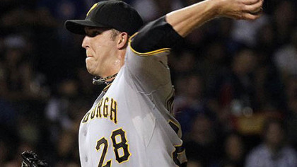 Pirates pitcher Paul Maholm delivers during the second  inning of last night's loss to the Chicago Cubs.