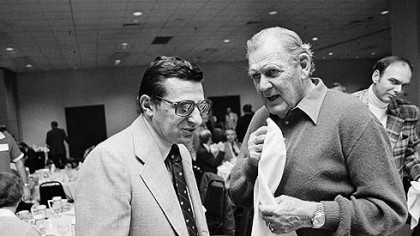 "Penn State's Joe Paterno was 0-4 all-time against legendary Alabama coach Paul ""Bear"" Bryant."