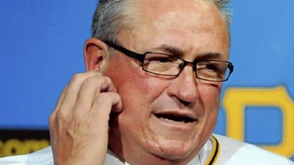 New Pirates manager Clint Hurdle speaks to reporters after being named the team&#039;s 39th manager Monday.