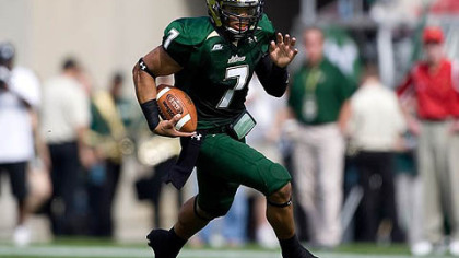 South Florida quarterback B.J. Daniels has rushed for 365 yards and four touchdowns this season.