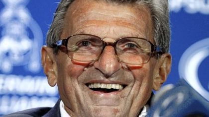 Lions coach Joe Paterno