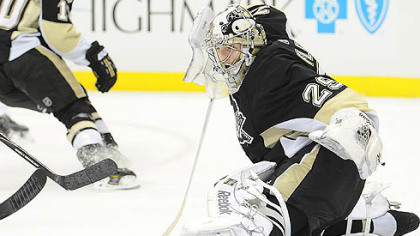 Penguins goaltender Marc-Andre Fleury has a 4-6-1 record this season.
