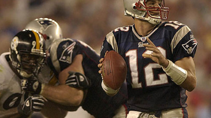 Patriots quarterback Tom Brady has a career record of 5-1 against the Steelers.