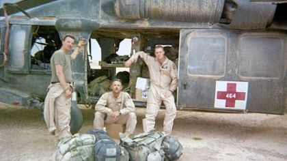 Don Bankosh, center, during his deployment in Iraq in 2003.
