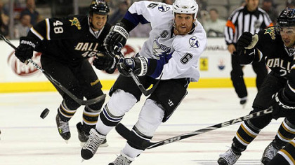 Lightning forward Ryan Malone has one goal and four assists in eight games this season.