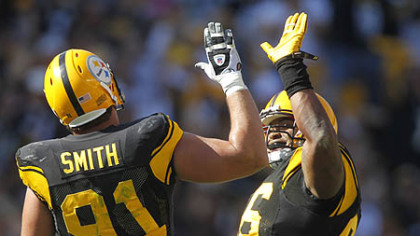 With Steelers defensive end Aaron Smith out for the season due to an arm injury, Ziggy Hood is expected to replace him.
