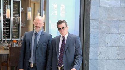 "Corey Stoll, left, is Detective Tomas ""TJ"" Jarusalski and Skeet Ulrich is Detective Rex Winters in ""Law & Order: Los Angeles."""