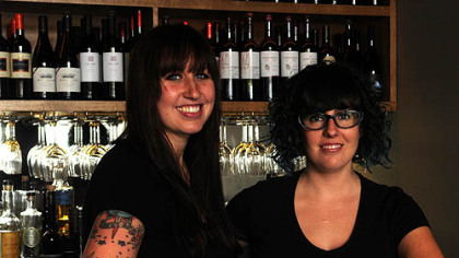 Co-head bartenders Summer Voelker and Maggie Meskey.
