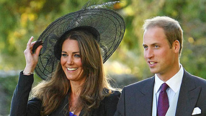 Kate Middleton and Britain&#039;s Prince William leave the wedding of their friends Harry Mead and Rosie Bradford in October.