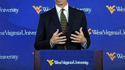 Oliver Luck, new athletic director for West Virginia University