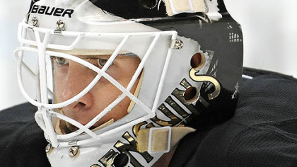 Penguins goaltender Brent Johnson has a 7-3-1 record this season.