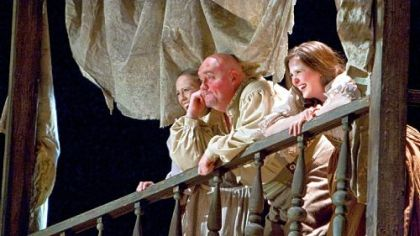 Kevin Glavin, center, was Pistola in last year&#039;s &quot;Falstaff.&quot; Mr. Pecchioli and Mr. Glavin appear in the opera&#039;s season opener, &quot;The Barber of Seville.&quot;